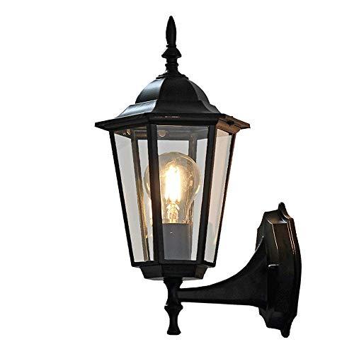 WANQINV Luces de pared creativas para exteriores para jardín, estilo europeo retro clásico, linterna de pasillo de villa, diseño exquisito, resistente al agua y duradero, adecuado para aceras, lámpara