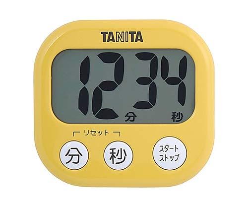タニタ キッチン タイマー マグネット付き 大画面 100分 イエロー TD-384 MY でか見えタイマー