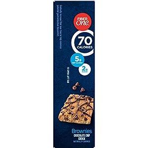 Fiber One Brownies, 70 Calories, 5 Net Carbs, Snacks, Chocolate Chip, 6ct