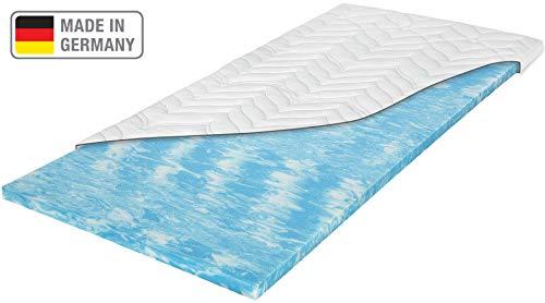 Meos® Gel-Schaum Topper 90x200 für Matratzen & Boxspringbett - Made in Germany - hohes RG50 - Bezug bis 60°C waschbar - Matratzenauflage (90 x 200 cm)