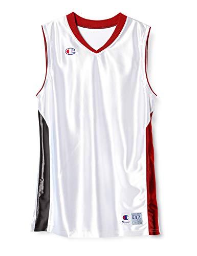 [チャンピオン] タンクトップ 速乾 ワンポイントロゴ ゲームシャツ バスケットボール GAME CBR2203 メンズ ホワイトR M