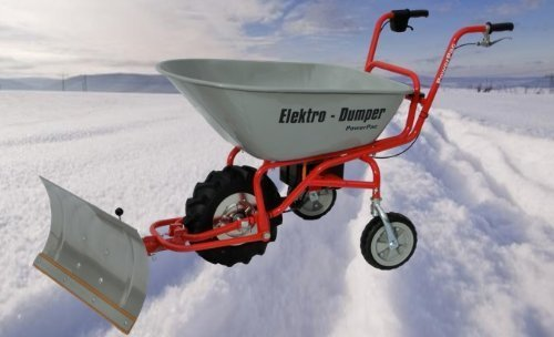 Modell 2020 - NEU SERIENMÄßIG: Mit Rückwärtsgang inkl. Ladestandanzeige - POWERPAC ED120 inkl. Schneeschild - AKKUSCHUBKARRE ELEKTROSCHUBKARRE SCHUBKARRE DUMPER MOTORSCHUBKARRE