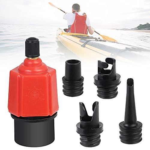 UCNOGIM Adaptador Paddle Surf Adaptador Compresor Piezas de Válvula Sup 4 Boquillas Diferentes Adaptador Inflador Eléctrica para Tabla de Paddle Surf Kayak Barca Hinchable Colchón Flotadores Piscinas