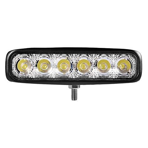 Luz de trabajo LED 18W 12V-24V Faro todoterreno 1500LM, Faros de Coche LED 6500K Blanco Frío, IP67 a prueba de agua, Reflector del faro Proyector Proyector para SUV UTV ATV Camión Moto Barco