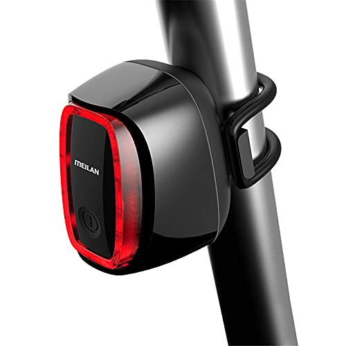 Luz trasera de bicicleta inteligente, IPX-4 impermeable, inducción automática de freno, super brillante LED USB recargable casco mochila bicicleta seguridad advertencia cola luz roja