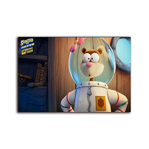 Megiri wall art for living room Sandy Cheeks ,Canvas Prints Picture Home Office bathroom wall Works Decor 24x18 inch