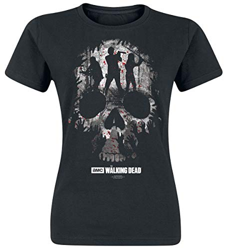 The Walking Dead Skull Maglia donna nero XL