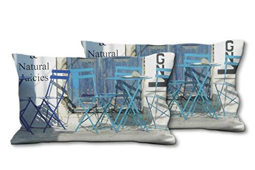 Glückvilla - Juego de 2 cojines de fotos (80 x 40 cm), diseño de cojín de gran calidad