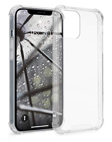 MyGadget Funda Protectora en Silicona TPU para Apple iPhone 12/12 Pro - Case Resistente Antigolpes – Cover Dura y Protective Cómoda y Ligera - Transparente