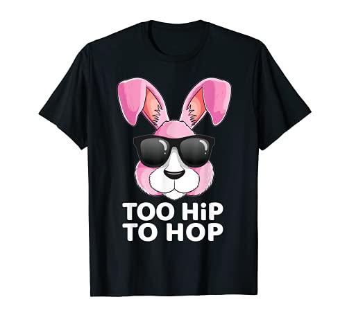Too Hip To Hop - Disfraz de conejo de Pascua para niñas Camiseta