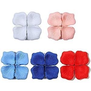 NA 2000 piezas de pétalos de rosa, rosas artificiales de seda, confeti de flores para bodas, fiestas de San Valentín