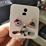 None/Brand 3 unids/Set broches de Feliz Navidad Calcetines de Navidad árbol de Navidad Alce Insignia esmaltada Broche pequeño joyería de Fiesta de Moda para Mujer