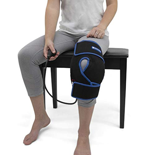 Cold Therapy Knee Ice Wrap with Compression and Extra Ice Gel Pack - Essential Kit for Knee Pain...