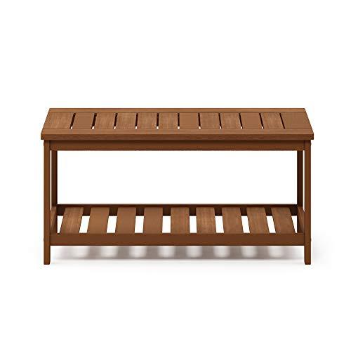 Furinno FG18508 Tioman Hardwood Patio Furniture 2-Tier Coffee Table in Teak Oil, Natural