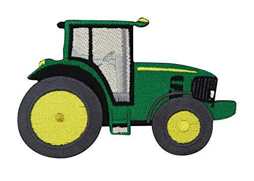 Finally Home Parche termoadhesivo con diseño de tractor amarillo y verde para niños