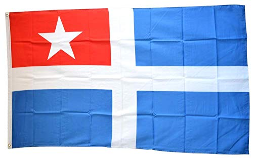 Flaggenfritze® Flagge/Fahne Griechenland Kreta - 90 x 150 cm, 115 gr/m²