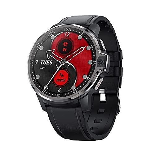 DM30 4G Pulsera deportiva WiFi GPS BT Smartwatch Touch Sn Android 9.1 Soporte Tarjeta Nano SIM Llamada de teléfono Cámara Dual 5MP Monitor de frecuencia cardíaca Reconocimiento facial (64 GB, Negro)