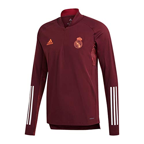 Adidas Real Madrid Temporada 2020/21 Chaqueta Entrenamiento UCL Oficial, Unisex, Granate, XL
