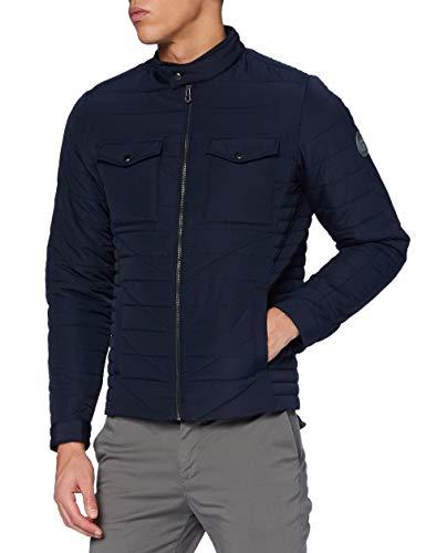 Teddy Smith 12014824D Jacket, Total Navy, Medium Homme