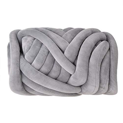 Flat fluweel Cored Cotton denim lijn parel katoen kat hondenhut DIY katoendraad zacht, warm, goede smaak voor het breien van zeer dikke naalden of breidekens, sjaals, mutsen, mutsen