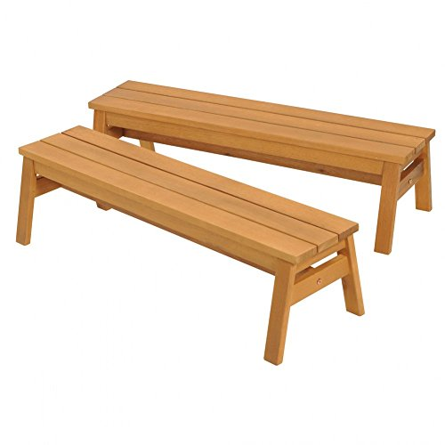 Kaplan Early Learning Company Outdoor Wooden Stacking Benches - Set of 2