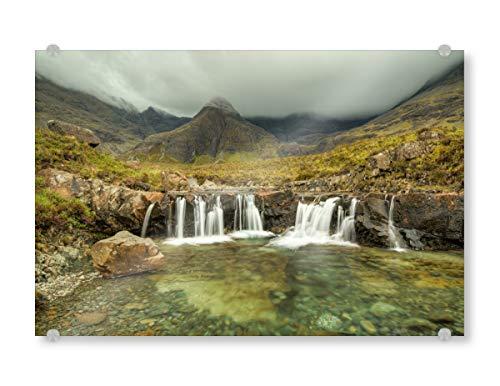 artboxONE Acrylglasbild 90x60 cm Natur Fairy Pools, Schottland - Bild Schottland Isle of Skye Fairy Pools
