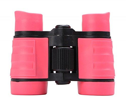 WODISON Kid Binoculars Set Bird Watching Compact Binoculars for Outdoor Camp Educational Learning for Children,Rose