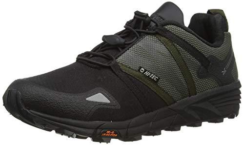Hi-Tec V-Lite OX-Trail Racer Low, Zapatillas para Caminar Hombre, Olive Night Negro, 40 EU