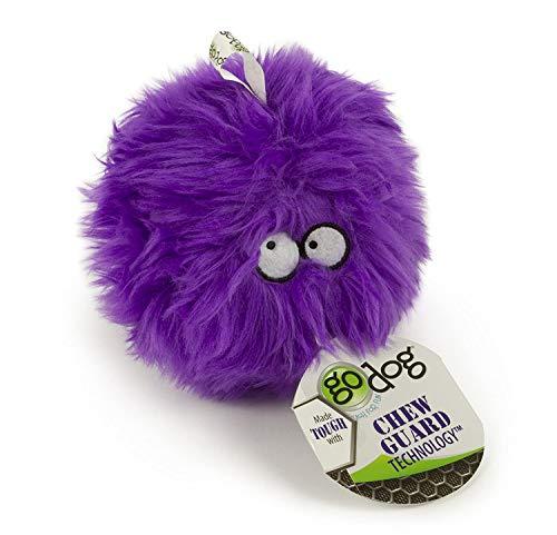 goDog Furballz with Chew Guard Technology Tough Plush Dog Toy, Small,...