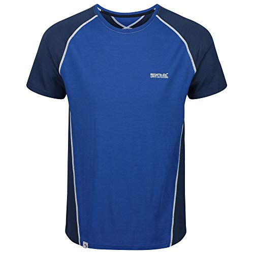Regatta T- Shirt Technique en Merinos Homme TORNELL II Polos/Vests, Nautical Blue/Dark Denim, FR : L (Taille Fabricant : L)