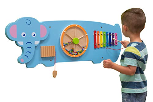 LEARNING ADVANTAGE - 50472 Learning Advantage Elephant Activity Wall Panel - 18m+ - Toddler Activity Center - Wall-Mounted Toy - Busy Board Decor for Bedrooms, Daycares and Play Areas