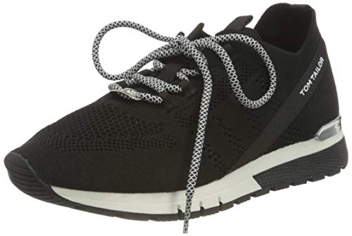 TOM TAILOR Damen 1191101 Sneaker, Schwarz, 41 EU