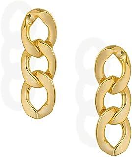 Amazon HIKARO varumärke 14K guldpläterade metallkedjor med S925 silvernål för flickor / pojkar, present till alla hjärtans...
