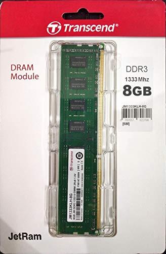 Transcend Arbeitsspeicher 8GB DDR3 1333MHz PC3-10666 CL9 DIMM (240-PIN, für Desktops-PCs)