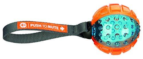 Trixie 33551 Push to mute, bal aan riem, ø 7/22 cm, oranje/blauw