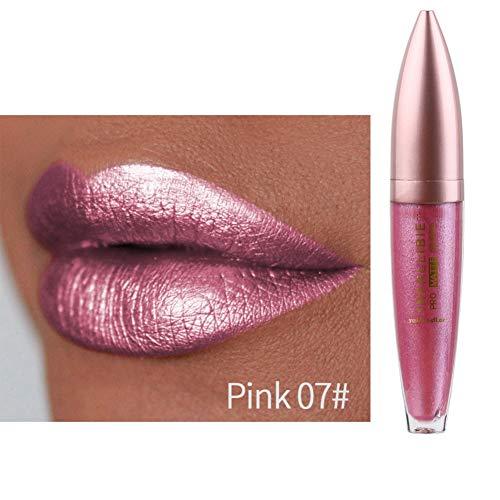 Metallic Liquid Lipsticks, ROMANTIC BEAR Long Lasting Waterproof Shimmer Pearlescent Colorful Lip...