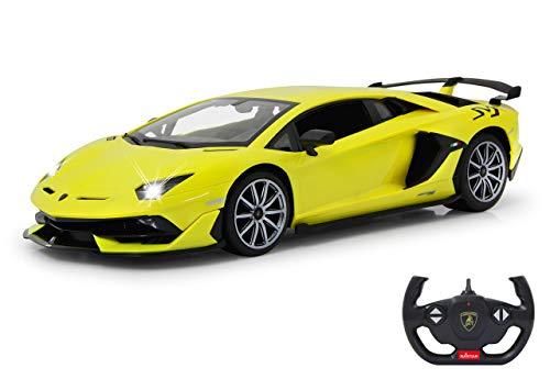 JAMARA 405171 Lamborghini Aventador SVJ 1:14 2,4 GHz, con Licencia Oficial, hasta 1 Hora de Tiempo de conducción a Aprox. 11 km/h, Detalles Perfectamente imitados, Acabado