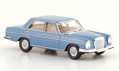 Mercedes 280 SE (W 108), hellblau, 1965, Modellauto, Fertigmodell, Brekina Starmada 1:87
