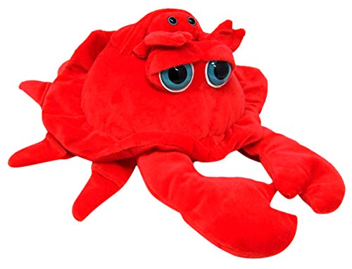 Needzo Soft Plush Crab with Pouch and Mini Baby 13 Inches (Crab)