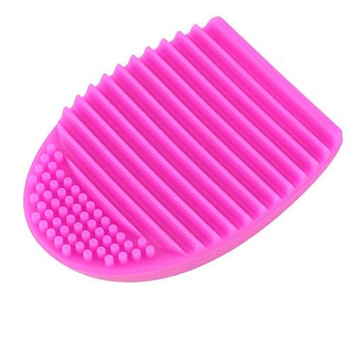 1 x NOUVEAU gant de nettoyage en silicone brosse de nettoyage maquillage éponge de lavage lavage de nettoyage cosmétique pinceaux de maquillage - rose rouge