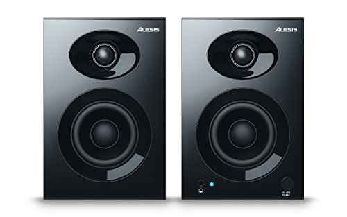Alesis Elevate 3 MKII | Powered Desktop Studio Lautsprecher für Home Studios/video-editing/Gaming und Mobile Geräte