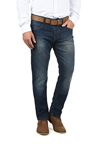 Indicode Quebec Herren Jeans Hose Denim Aus Stretch-Material Regular Fit, Größe:W33/34, Farbe:Dark Blue (855)