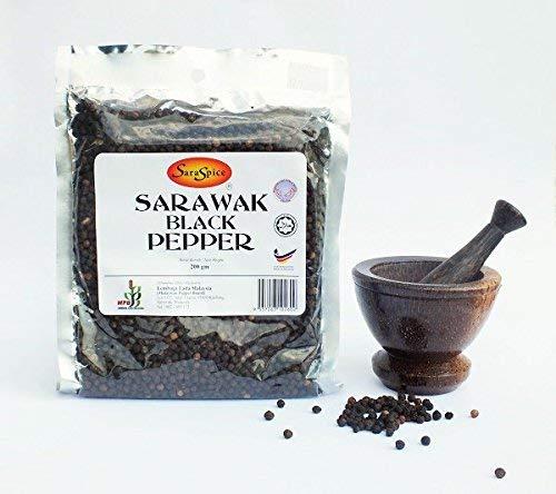 schwarzer Sarawak-Pfeffer aus Malaysia, 200 g