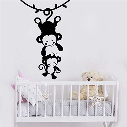 Quszpm Cartoon monkey wall stickers, children's room home decoration, Diy home decoration, children's room decoration 43cm X 67cm
