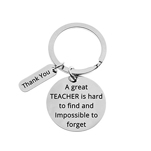 Teacher Appreciation Gifts, Show Your Teachers Appreciation, Thank You Keychain Key Ring Gifts (A Great Teacher)