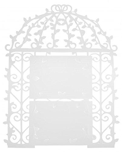 Unbekannt Tischplan Menüplan Weiß Menü Platzanweiser Wanddeko Deko Hochzeit