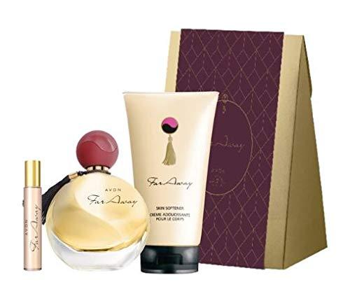 FARAWAY ESTUCHE REGALO (Agua de perfume 50ml, vaporizador bolsillo 10ml y locion corporal + caja regalo)