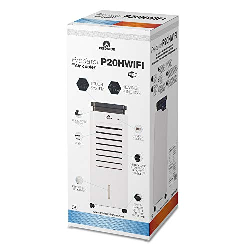 Predator P20H - Condizionatore d'aria calda e fredda evaporativo portatile - Raffreddatore d'aria - Controllo WIFI tramite app e manuale - Anti-zanzara INTEGRATO - Effetto brezza - Regola temp 4-5 °C
