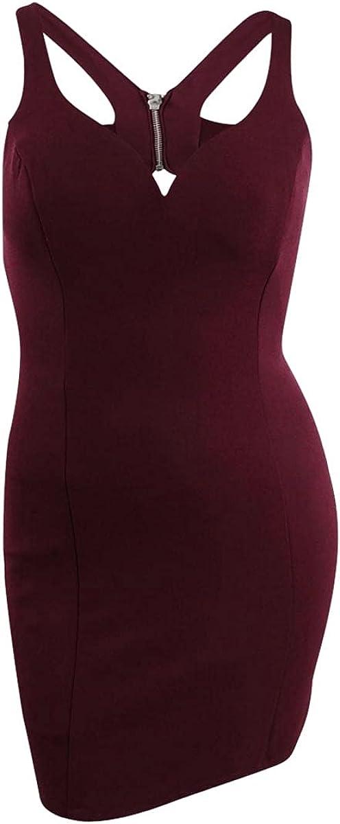 B Darlin Juniors' Strappy Sheath Dress (13/14, Dark Garnet)