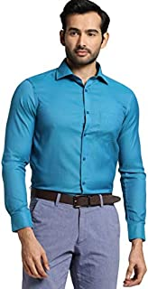 Knighthood by Fbb Slim Fit Oxford Formal Shirt Teal